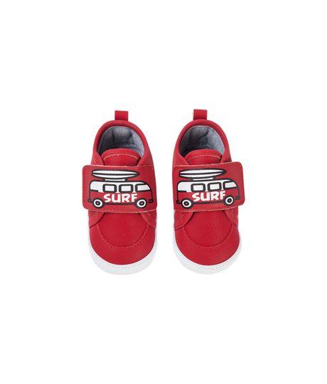 Zapatos-con-velcro-Ropa-recien-nacido-nino-Rojo