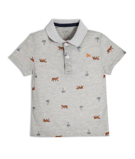 Camiseta-tipo-polo-Ropa-bebe-nino-Gris