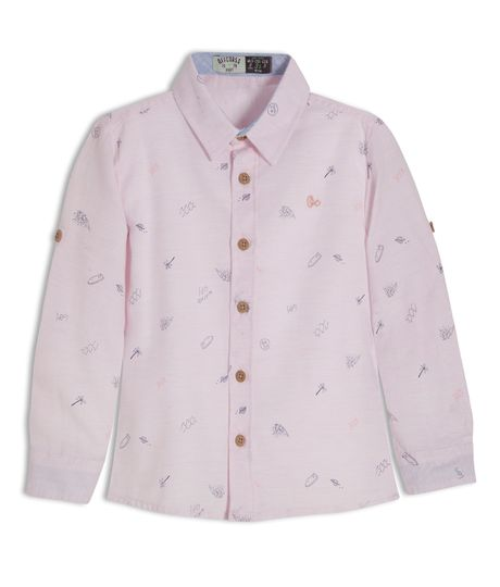 Camisa-manga-larga-Ropa-bebe-nino-Rosado
