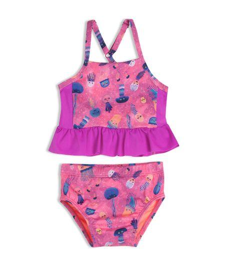 Vestido-de-baño-bikini-Ropa-recien-nacido-nina-Morado
