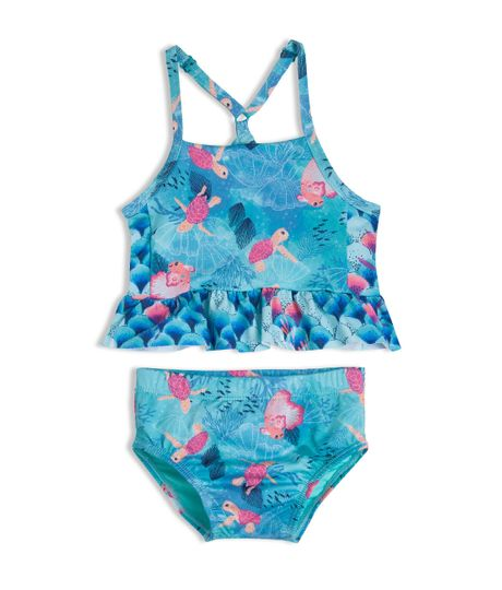 Vestido-de-baño-bikini-Ropa-recien-nacido-nina-Verde