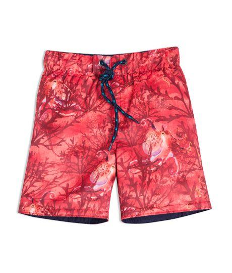 Pantaloneta-doble-faz-Ropa-bebe-nino-Rojo