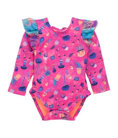 Vestido-de-baño-entero-Ropa-recien-nacido-nina-Morado