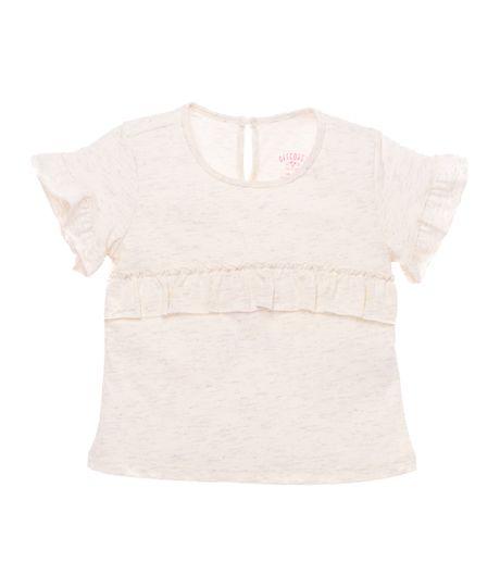 Camiseta-manga-corta-Ropa-recien-nacido-nina-Blanco