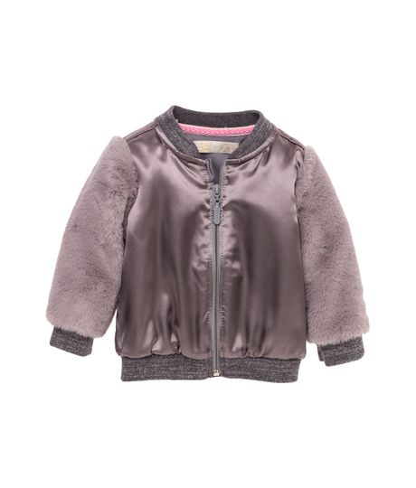 Bomber-jacket-Ropa-recien-nacido-nina-Gris