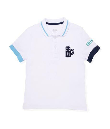 Camiseta-tipo-polo-Ropa-bebe-nino-Blanco