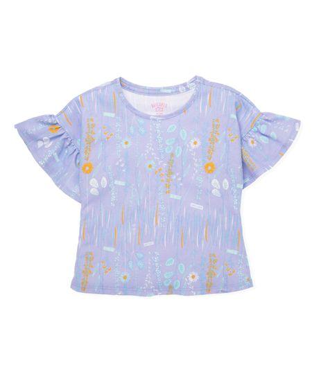 Camiseta-manga-corta-Ropa-bebe-nina-Morado