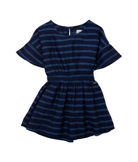 Vestido-manga-corta-Ropa-nina-Indigo-medio