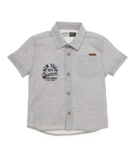 Camisa-manga-corta-Ropa-bebe-nino-Gris