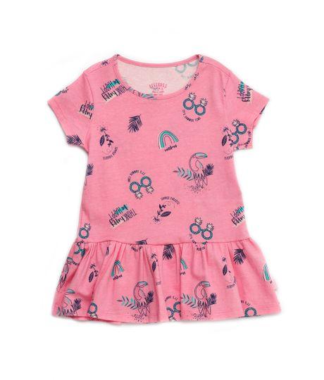 Vestido-manga-corta-Ropa-bebe-nina-Rosado