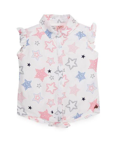 Camisa-manga-sisa-Ropa-bebe-nina-Blanco