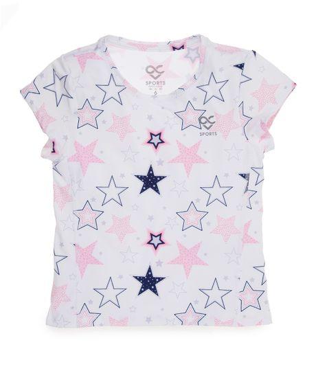 Camiseta-deportiva-Ropa-bebe-nina-Blanco