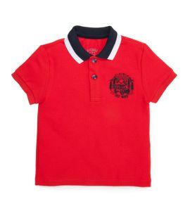 Camiseta-tipo-polo-Ropa-bebe-nino-Rojo