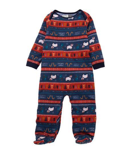 Pijama-enterizo-Ropa-recien-nacido-nino-Azul