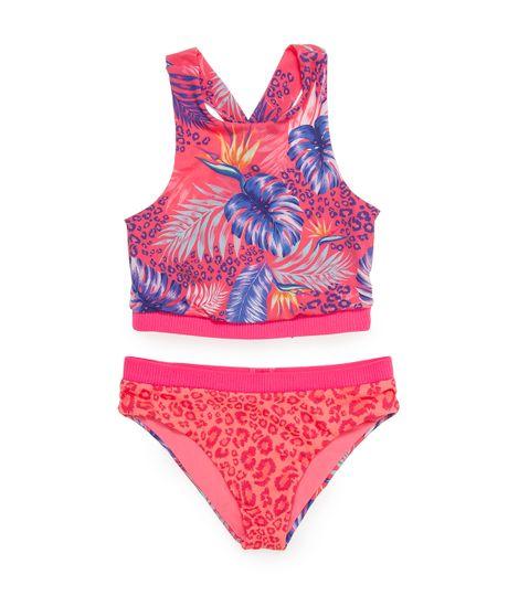 Vestido-de-baño-tipo-bikini-Ropa-nina-Rojo