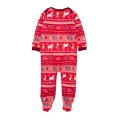 Pijama-enterizo-Ropa-recien-nacido-nina-Rojo
