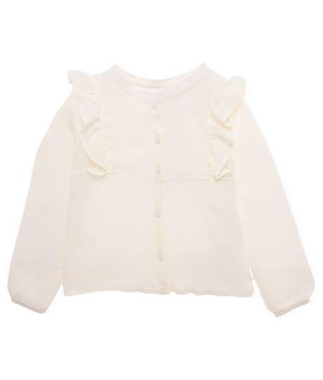 Camisa-manga-larga-Ropa-bebe-nina-Blanco