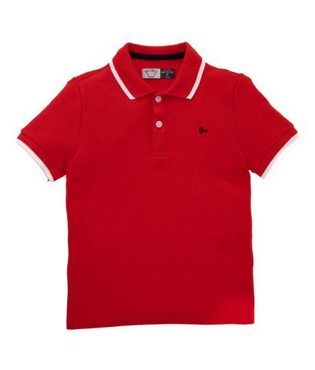 Camiseta-tipo-polo-Ropa-nino-Rojo