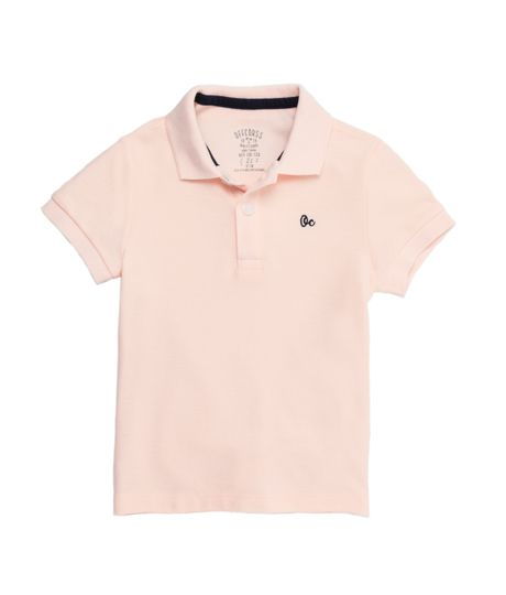 Camiseta-tipo-polo-Ropa-bebe-nino-Rosado