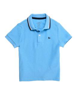 Camiseta-tipo-polo-Ropa-bebe-nino-Azul