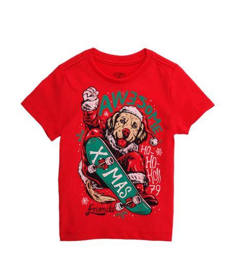 Camiseta-manga-corta-Ropa-bebe-nino-Rojo