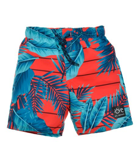 Pantaloneta-de-baño-Ropa-nino-Rojo