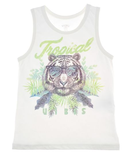 Camiseta-de-playa-Ropa-nino-Blanco