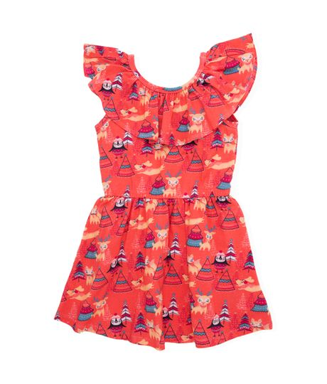Vestido-manga-sisa-Ropa-bebe-nina-Rojo