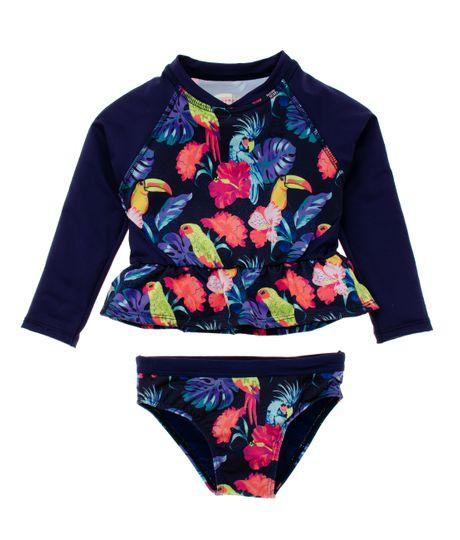 Vestido-de-baño-tipo-tankini-Ropa-bebe-nina-Azul