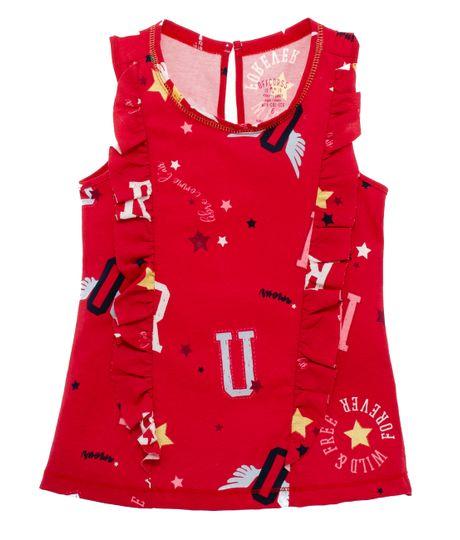 Camiseta-manga-sisa-Ropa-nina-Rojo