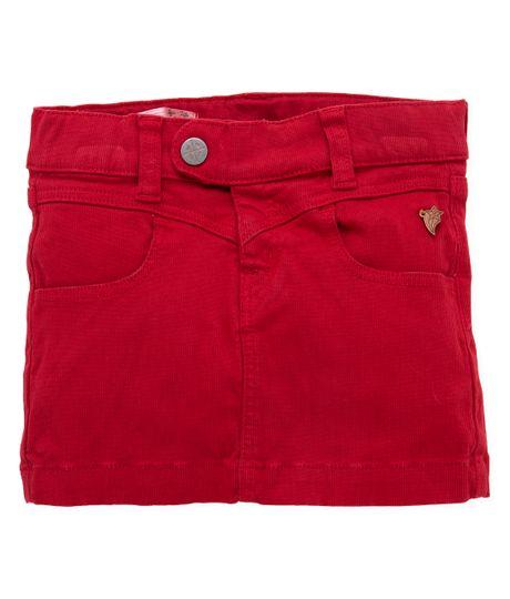 Falda-corta-Ropa-bebe-nina-Rojo