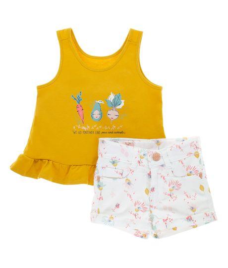 Conjunto-Ropa-bebe-nina-Amarillo