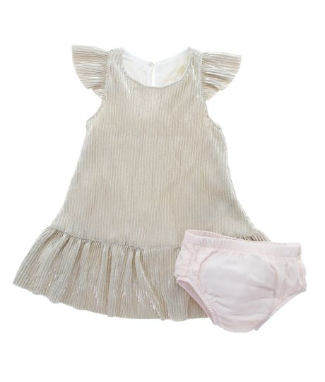 Vestido-manga-corta-Ropa-recien-nacido-nina-Cafe