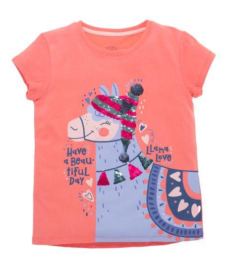 Camiseta-manga-corta-Ropa-nina-Naranja