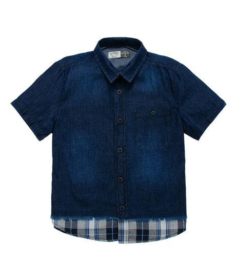 Camisa-manga-corta-Ropa-nino-Indigo-medio