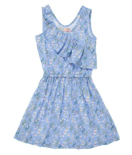 Vestido-manga-corta-Ropa-nina-Morado