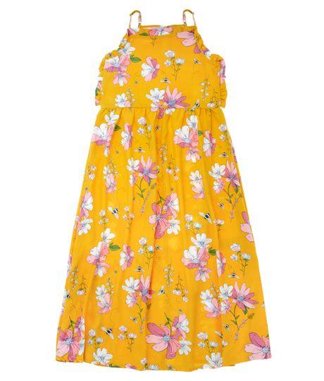 Vestido-largo-Ropa-nina-Amarillo