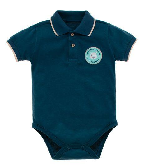 Body-tipo-polo-Ropa-recien-nacido-nino-Azul