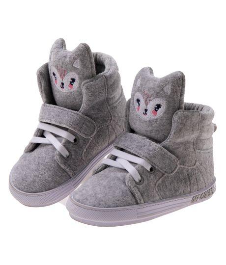 Zapatos-precaminadores-Ropa-recien-nacido-nina-Gris