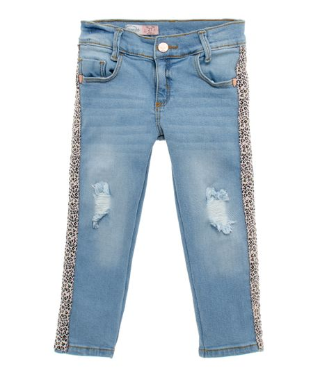 Jean-skinny-Ropa-bebe-nina-Indigo-claro
