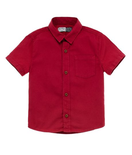 Camisa-manga-corta-Ropa-bebe-nino-Rojo