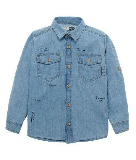 Camisa-manga-larga-Ropa-nino-Indigo-claro
