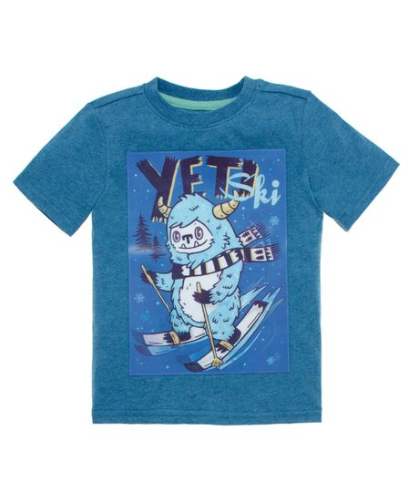 Camiseta-con-holograma-Ropa-bebe-nino-Azul