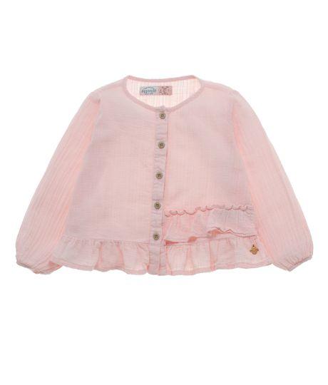 Camisa-manga-larga-Ropa-bebe-nina-Rosado