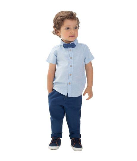 Camisa-manga-larga-Ropa-recien-nacido-nino-Azul