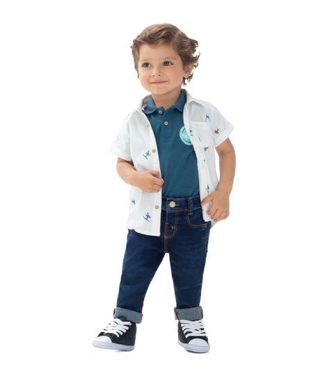 Camisa-manga-corta-Ropa-recien-nacido-nino-Blanco