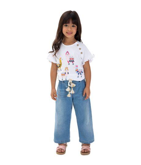 Jean-silueta-culotte-Ropa-bebe-nina-Indigo-claro