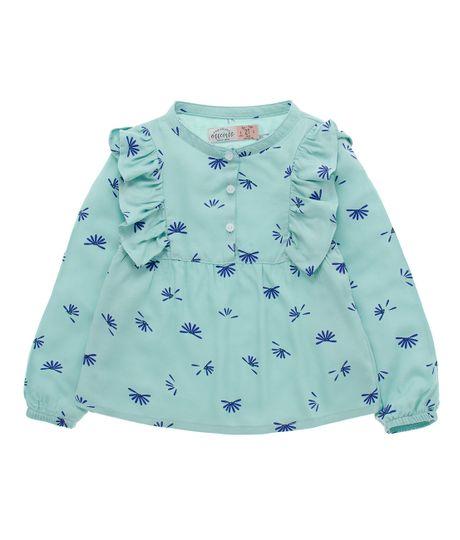 Camisa-manga-larga-Ropa-bebe-nina-Verde
