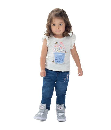 Camiseta-manga-corta-Ropa-recien-nacido-nina-Gris