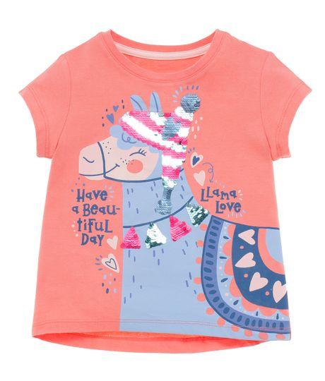 Camiseta-manga-corta-Ropa-bebe-nina-Naranja